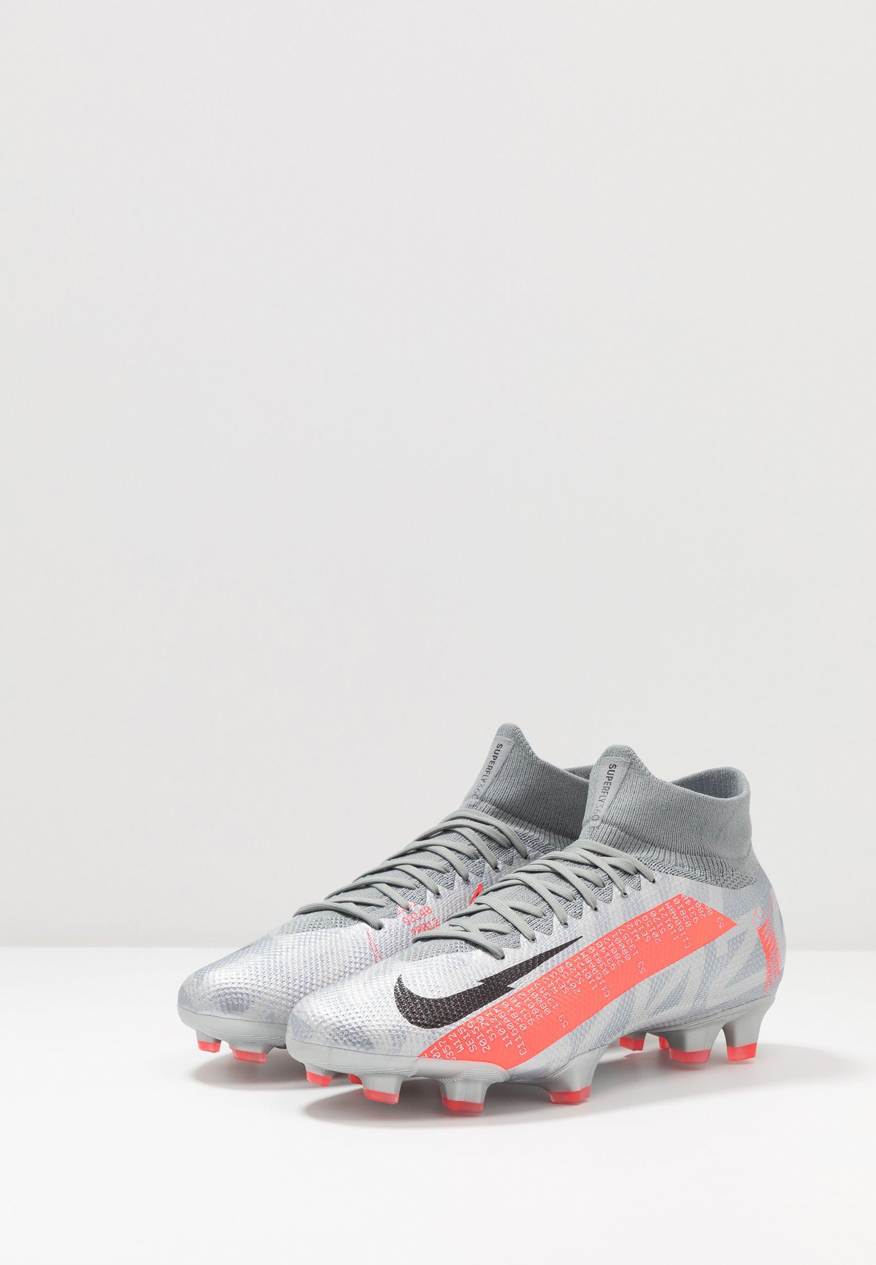 MERCURIAL 7 PRO FG Voetbalschoenen met kunststof noppen metallic bomber greyblackparticle grey