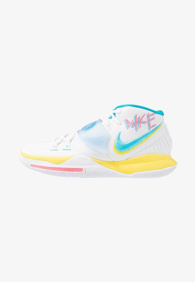 KYRIE 6 - Basketballschuh - white/blue fury/optic yellow/digital pink
