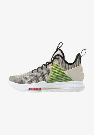 LEBRON WITNESS IV - Basketbalové boty - string/black/volt/bright crimson/white