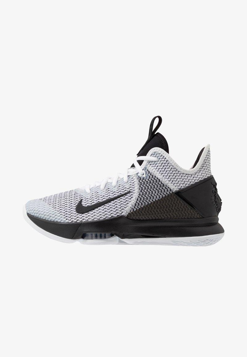 Nike Performance - LEBRON WITNESS IV - Obuwie do koszykówki - white/black
