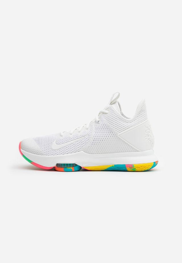 LEBRON WITNESS IV - Basketbalschoenen - summit white/opti yellow