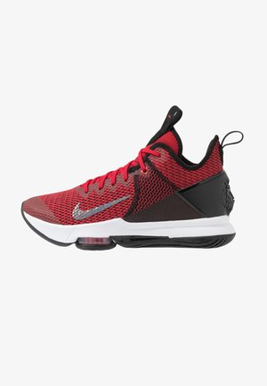 LEBRON WITNESS IV - Indoorskor - black/gym red/university red
