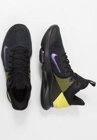 Nike Performance - LEBRON WITNESS IV - Obuwie do koszykówki - black/voltage purple/opti yellow/white - 1