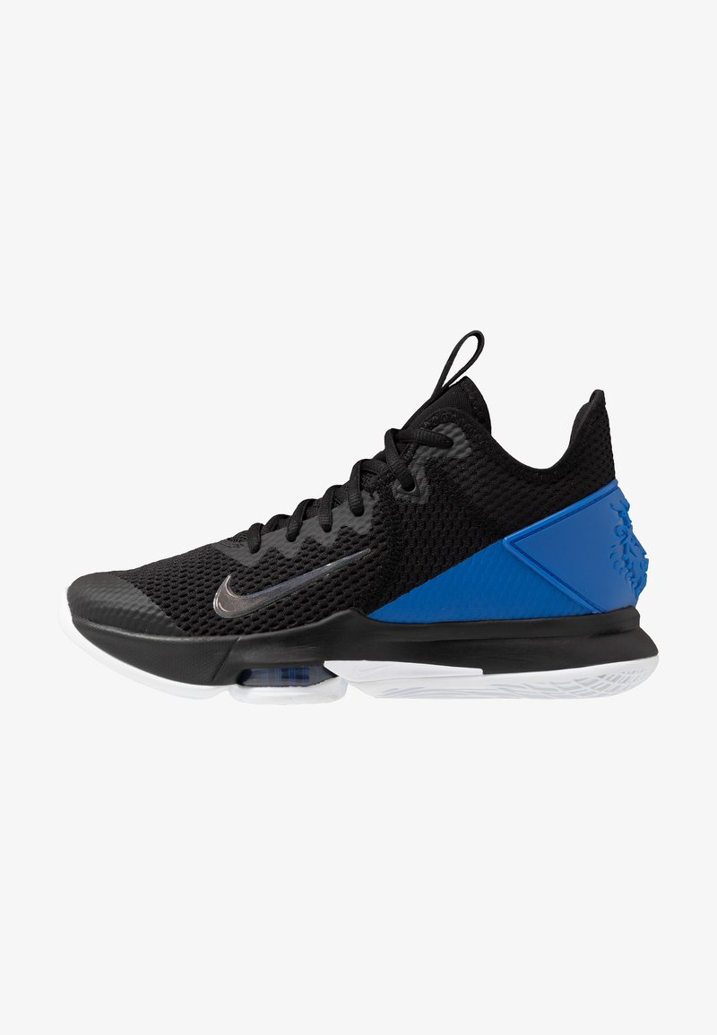 Nike Performance - LEBRON WITNESS IV - Koripallokengät - black/clear/hyper cobalt