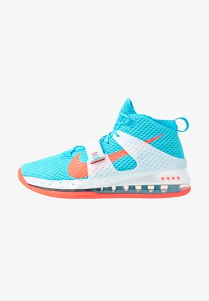 Nike Air Force Max II Basketballschuh - Korkeavartiset tennarit - blue fury/bright crimson/white