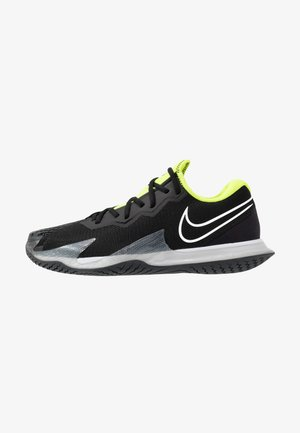 Massakentän kengät - black/white/volt/dark smoke grey