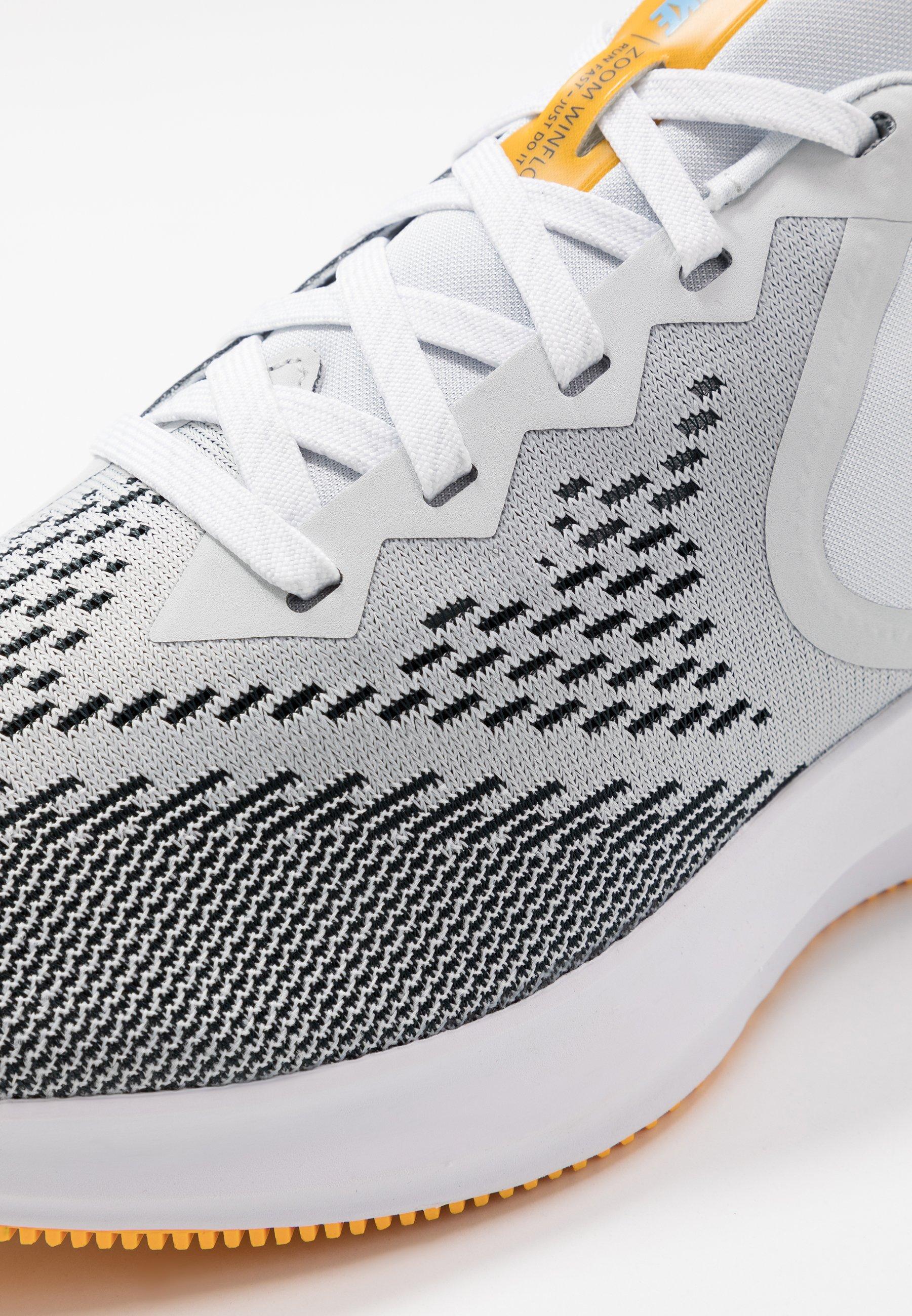Nike Performance ZOOM WINFLO 6 - Neutral running shoes - pure platinum/black/laser orange/white/university blue