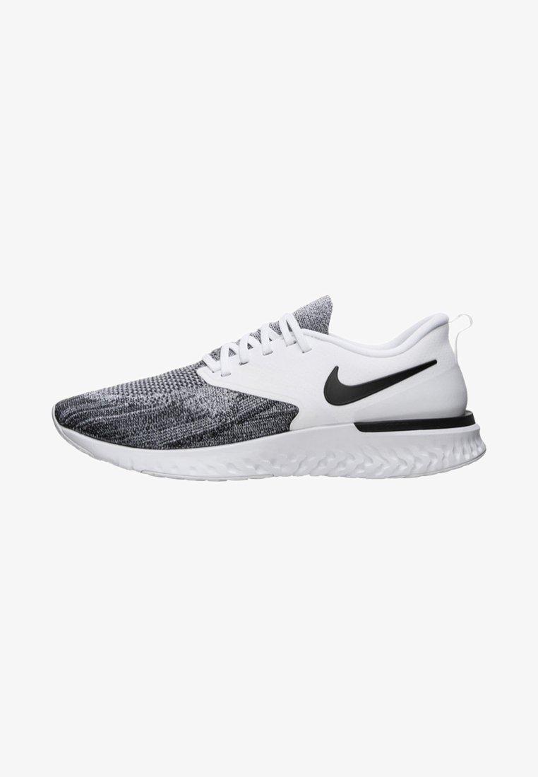 Nike Performance - Odyssey React Flyknit 2 - Laufschuh Neutral - white/black