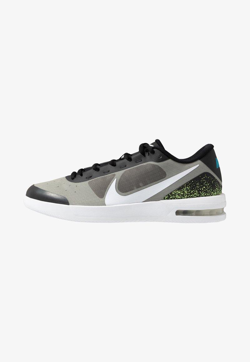 Nike Performance - COURT AIR MAX VAPOR WING MS - Tennisschoenen voor alle ondergronden - black/white/neon turquoise/hot lime