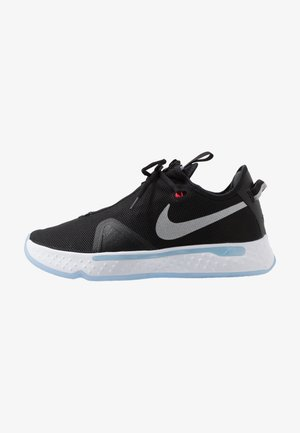 PG 4 - Basketball shoes - black/white/light smoke grey