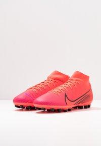 Nike Performance - MERCURIAL 7 ACADEMY AG - Voetbalschoenen met kunststof noppen - laser crimson/black - 2