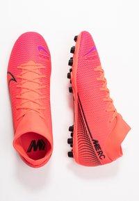 Nike Performance - MERCURIAL 7 ACADEMY AG - Voetbalschoenen met kunststof noppen - laser crimson/black - 1