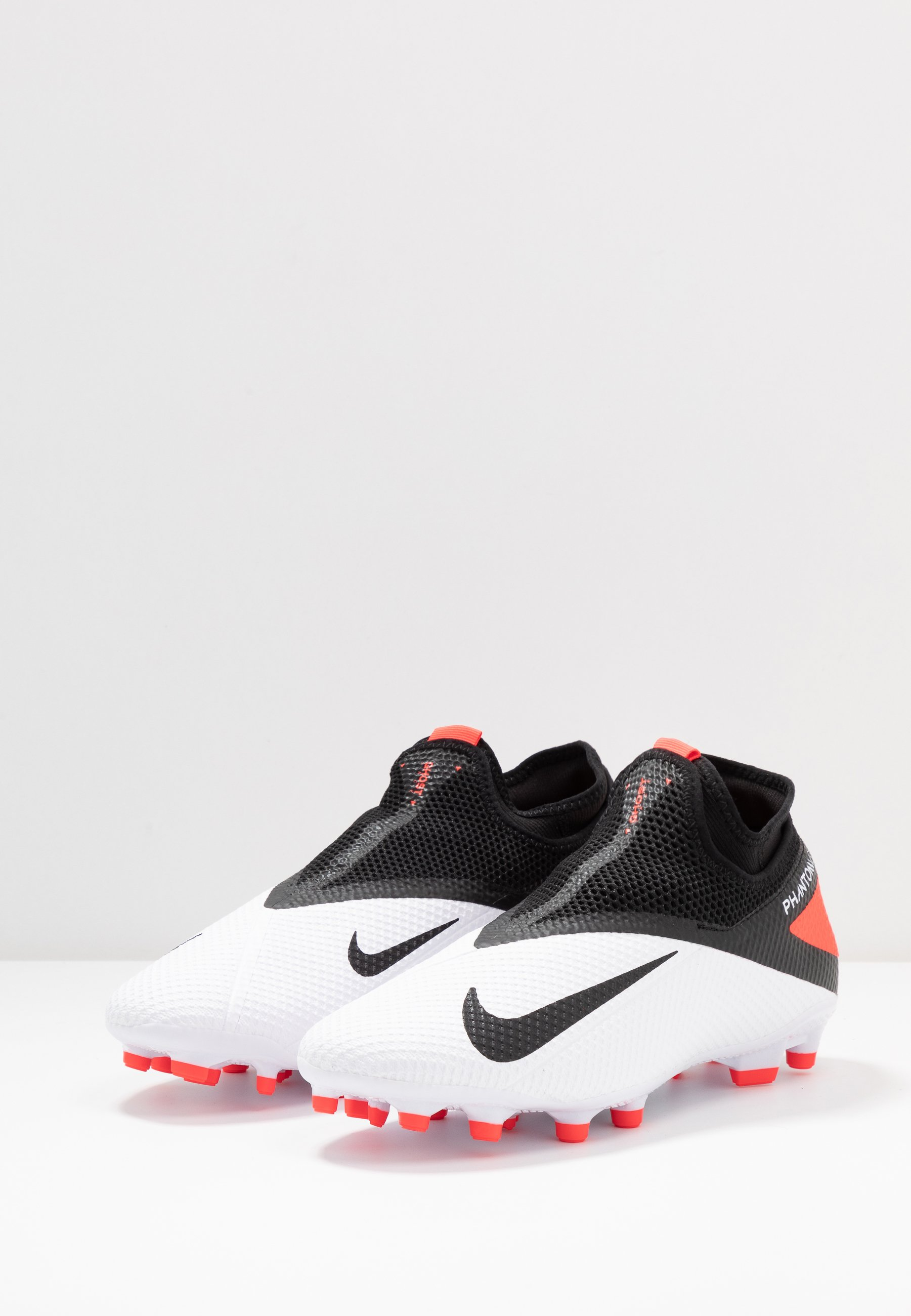 Nike Performance PHANTOM VISION 2 ACADEMY DF FG/MG - Korki Lanki - white/black/laser crimson