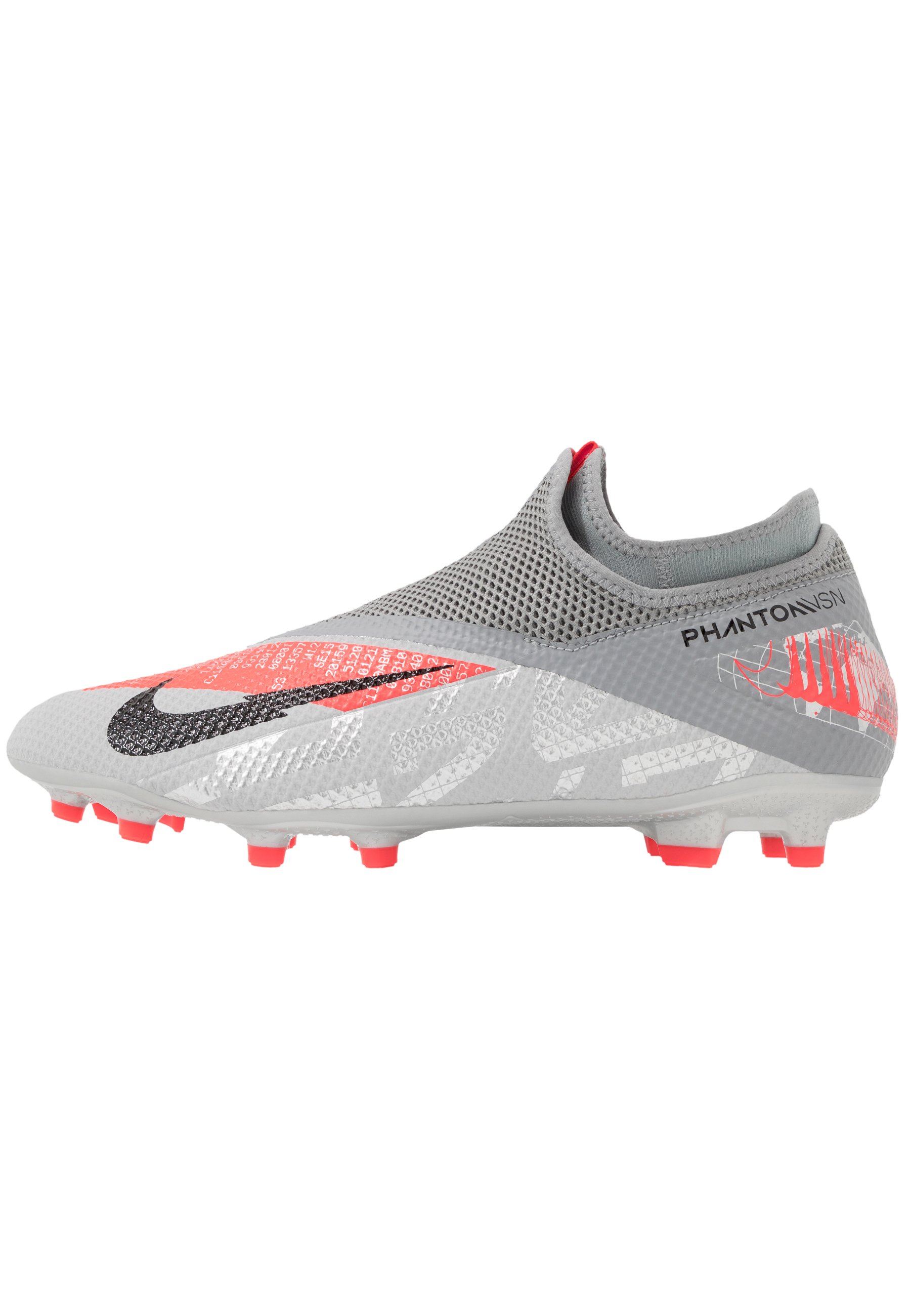 PHANTOM VISION 2 ACADEMY DF FGMG Chaussures de foot à crampons metallic bomber greyblackparticle grey
