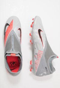 Nike Performance - PHANTOM VISION 2 ACADEMY DF FG/MG - Voetbalschoenen met kunststof noppen - metallic bomber grey/black/particle grey - 1