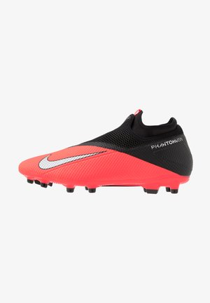 PHANTOM VISION 2 ACADEMY DF FG/MG - Chaussures de foot à crampons - laser crimson/metallic silver/black