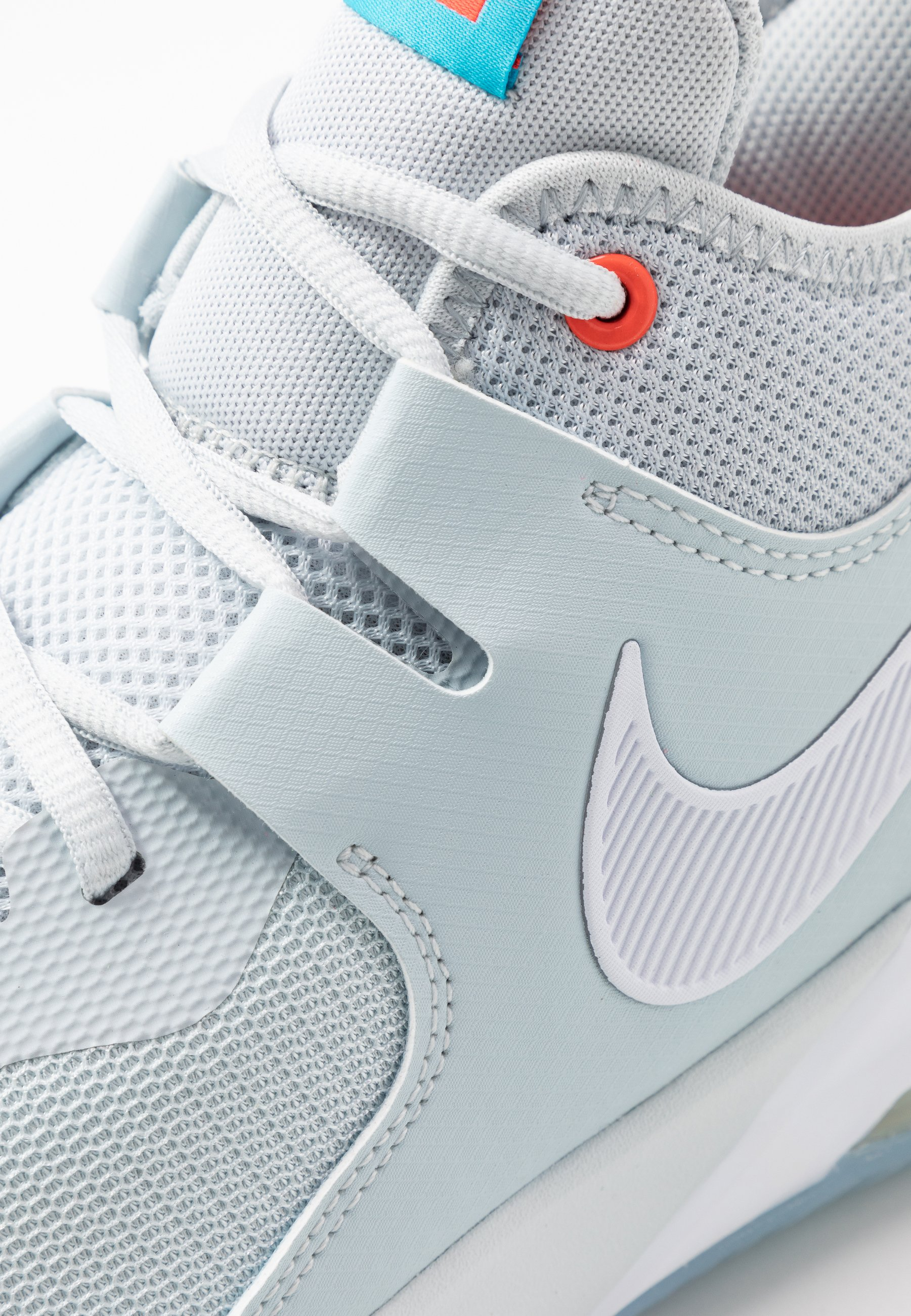 Nike Performance AIR MAX IMPACT - Obuwie do koszykówki - pure platinum/white/blue fury