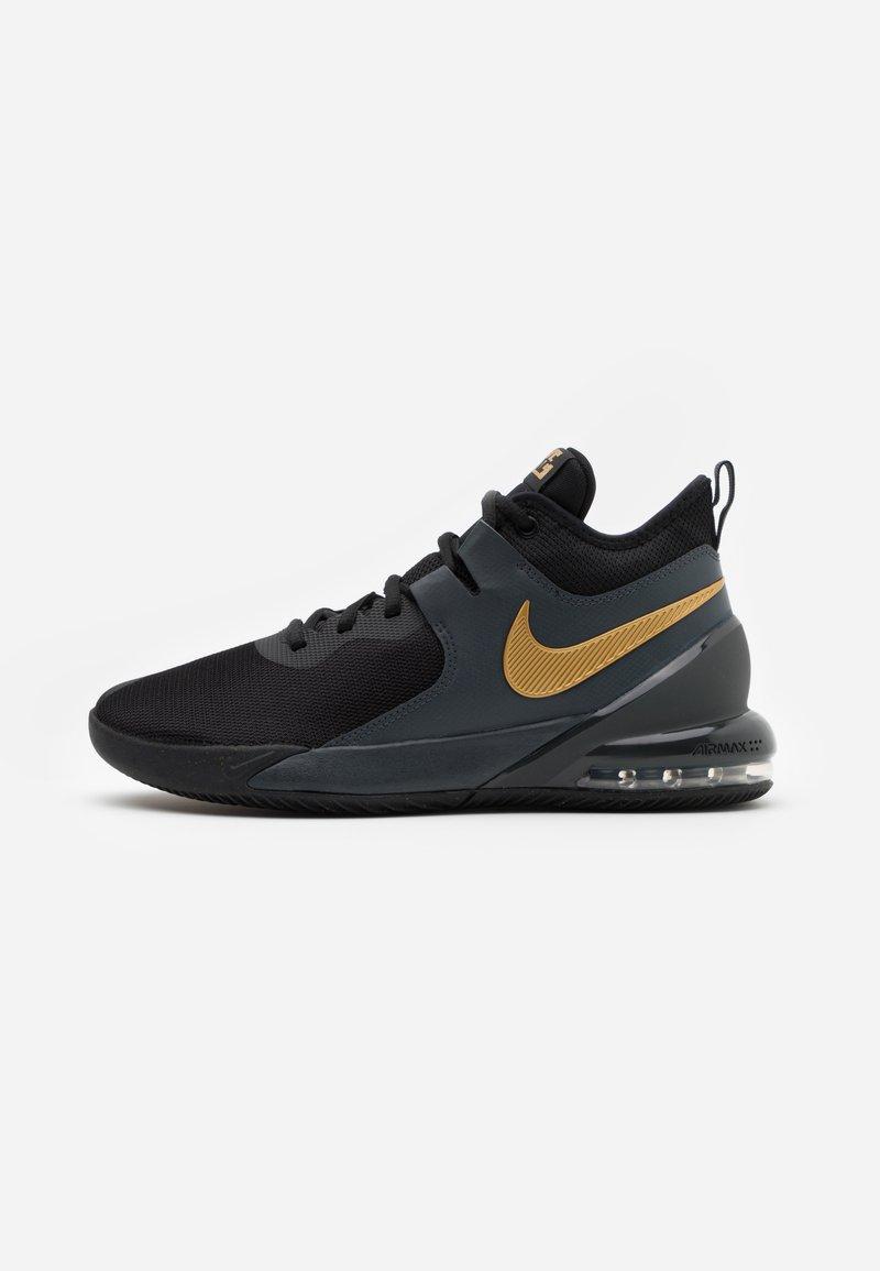 Nike Performance - AIR MAX IMPACT - Basketball shoes - black/metallic gold/dark smoke grey