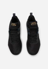 Nike Performance - AIR MAX IMPACT - Basketball shoes - black/metallic gold/dark smoke grey - 3