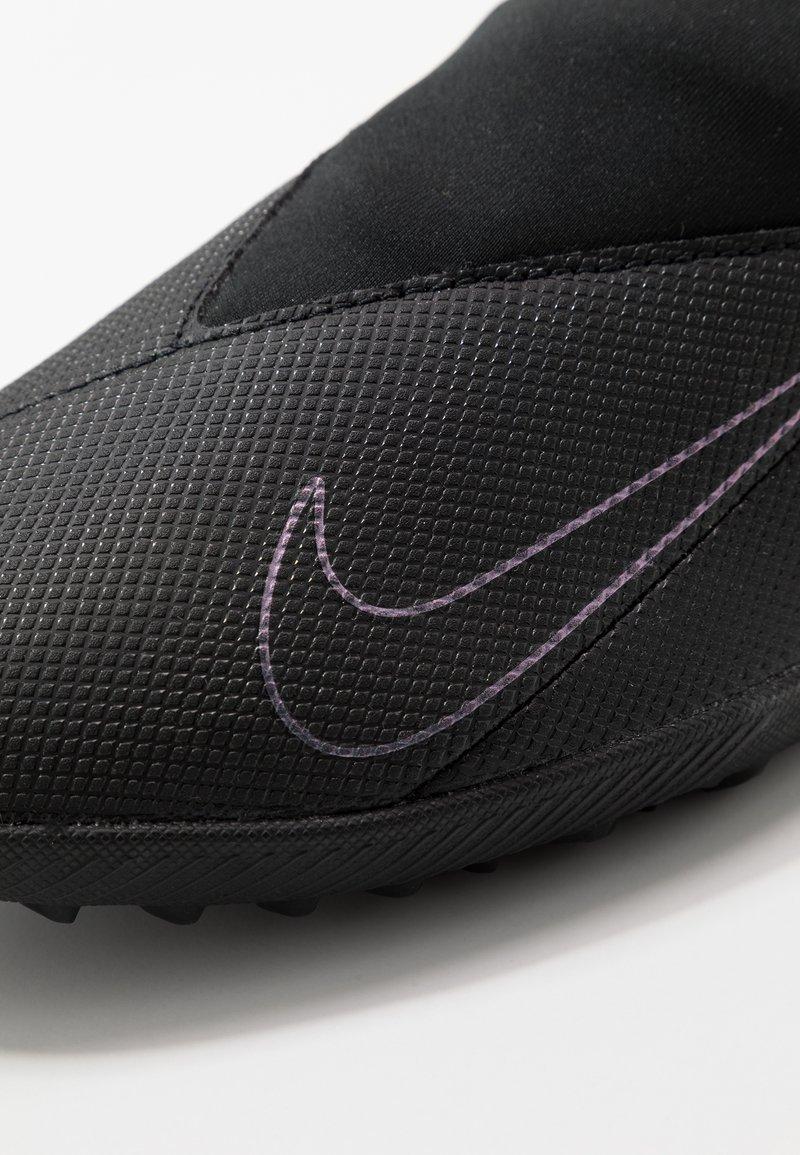 Nike Performance PHANTOM VISION 2 CLUB DF TF - Fotballsko for kunstgress - black