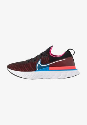 NIKE REACT INFINITY RUN FK - Neutral running shoes - black/white/red orbit/photo blue/pink blast