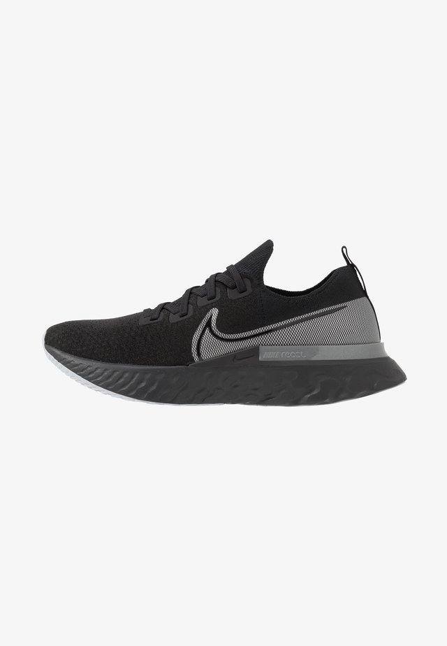 REACT INFINITY RUN - Juoksukenkä/neutraalit - black/metallic silver/dark grey