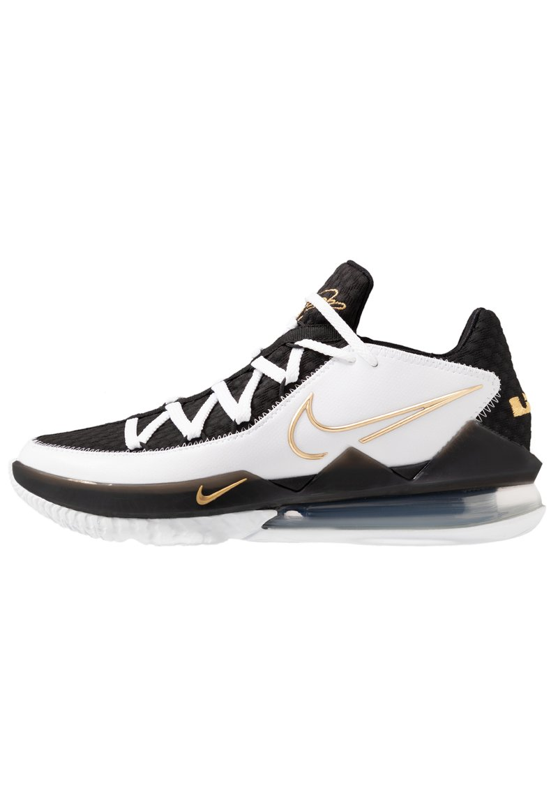 Nike Performance - LEBRON XVII LOW - Koripallokengät - white/metallic gold/black