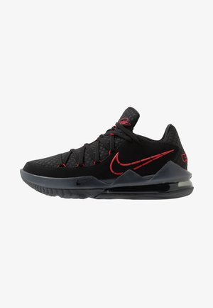 LEBRON XVII LOW - Basketball shoes - black/university red/dark grey