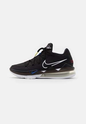 LEBRON XVII LOW - Basketbalschoenen - black/multicolor/white/university red