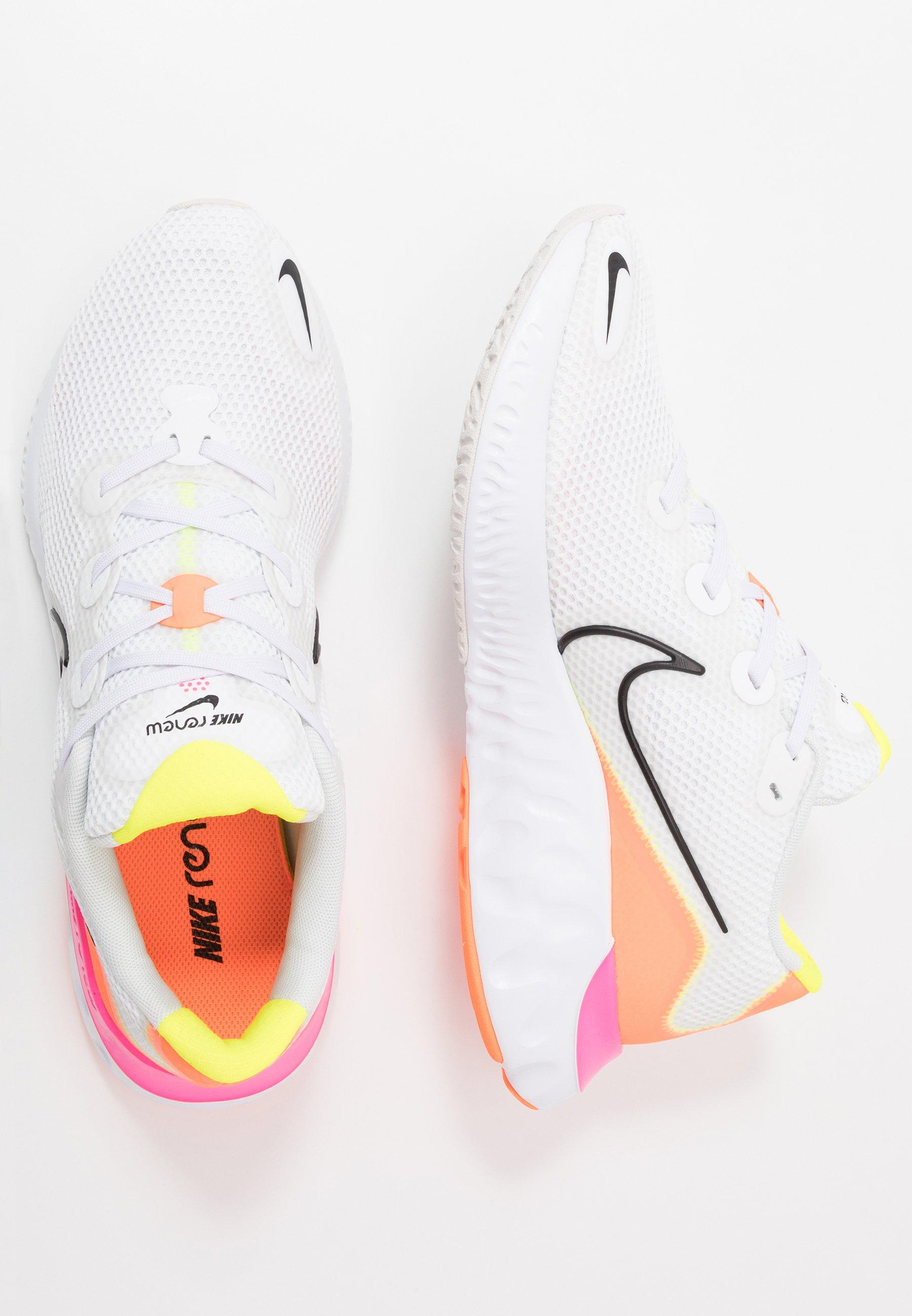 Nike Performance RENEW - Obuwie do biegania treningowe - white/black/platinum tint/pink blast/lemon/total orange