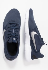 Nike Performance - FLEX EXPERIENCE RUN 9 - Competition running shoes - obsidian/metallic cool grey/black - 1