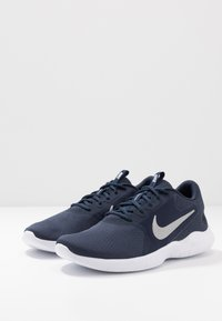 Nike Performance - FLEX EXPERIENCE RUN 9 - Competition running shoes - obsidian/metallic cool grey/black - 2