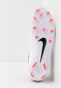 Nike Performance - PHANTOM VISION 2 PRO DF FG - Voetbalschoenen met kunststof noppen - white/black/laser crimson - 4