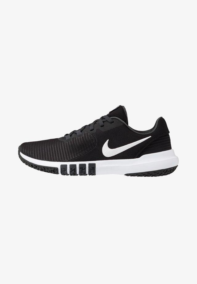 FLEX CONTROL 4 - Sportovní boty - black/white/dark smoke grey/smoke grey
