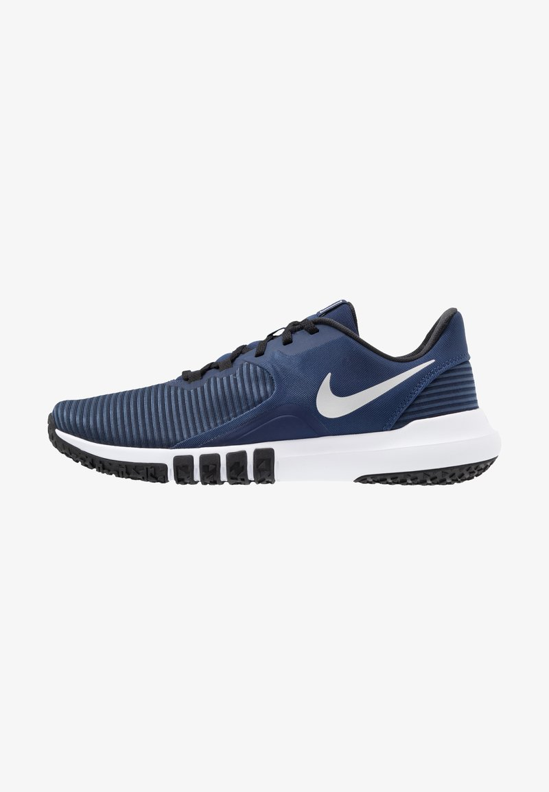 Nike Performance - FLEX CONTROL 4 - Zapatillas de entrenamiento - midnight navy/metallic silver/black/white