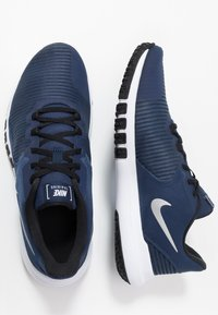 Nike Performance - FLEX CONTROL 4 - Zapatillas de entrenamiento - midnight navy/metallic silver/black/white - 1