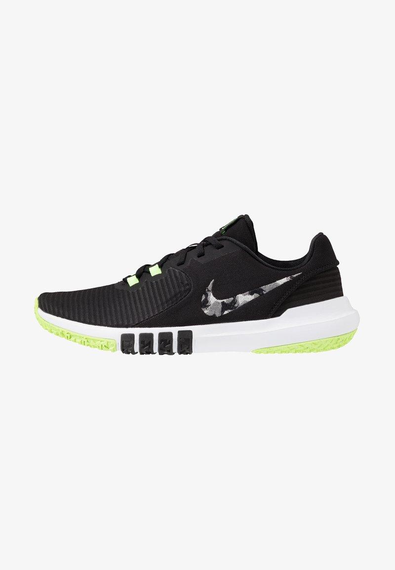 Nike Performance - FLEX CONTROL 4 - Sports shoes - black/smoke grey/ghost green/photon dust/sapphire