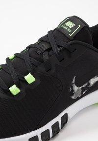 Nike Performance - FLEX CONTROL 4 - Sports shoes - black/smoke grey/ghost green/photon dust/sapphire - 5