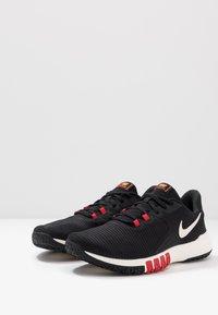 Nike Performance - FLEX CONTROL 4 - Zapatillas de entrenamiento - black/soar/university red/total orange/pale ivory - 2