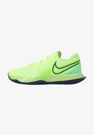 Clay court tennis shoes - ghost green/blackened blue/barely volt