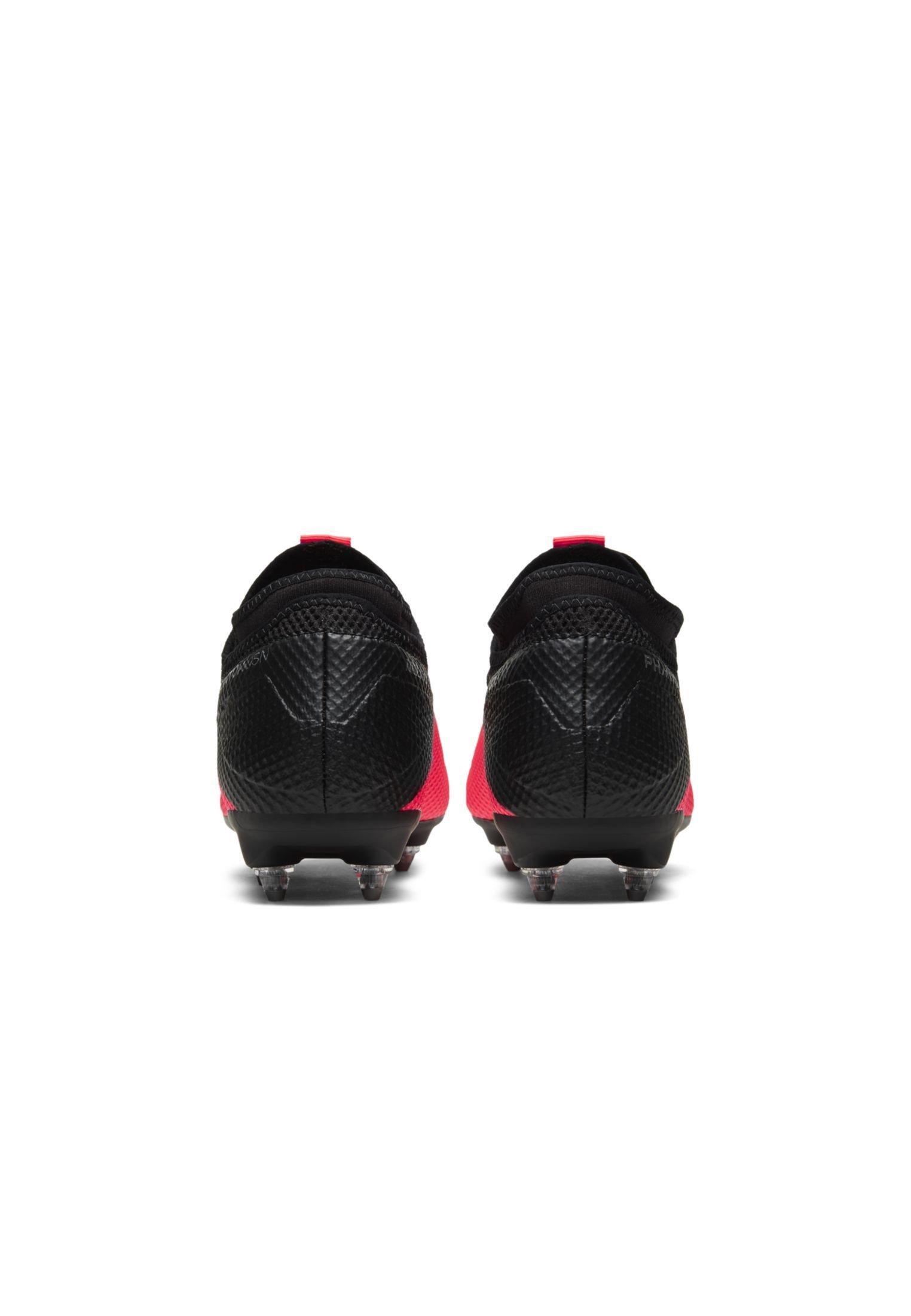 Nike Performance PHANTOM VISION 2 ACADEMY DF SGPROAC - Chaussures de foot à lamelles - laser crimson/black/metallic silver