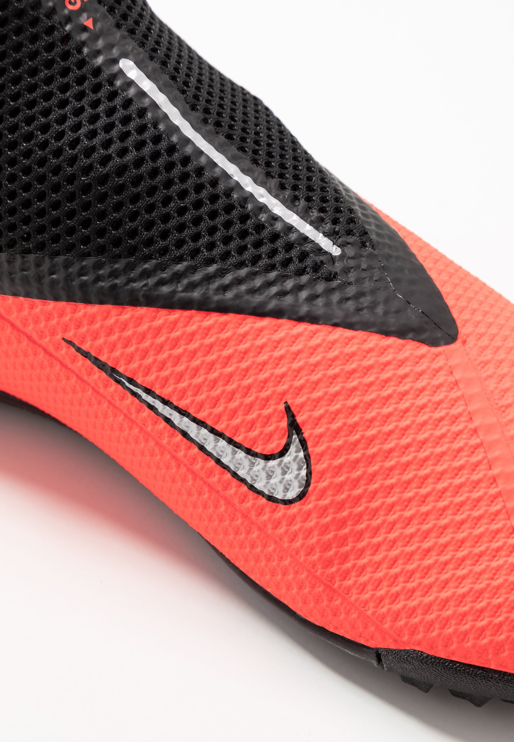 Nike Performance PHANTOM VISION 2 ACADEMY DF TF - Fodboldstøvler m/ multi knobber - laser crimson/metallic silver/black