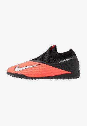 PHANTOM VISION 2 ACADEMY DF TF - Chaussures de foot multicrampons - laser crimson/metallic silver/black
