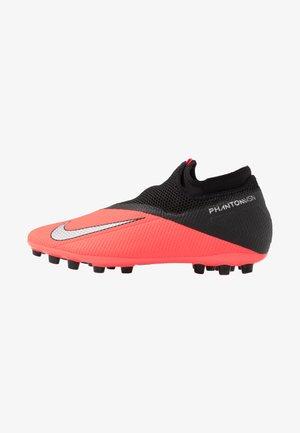 PHANTOM VISION 2 ACADEMY DF AG - Chaussures de foot à crampons - laser crimson/metallic silver/black