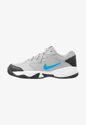 COURT LITE 2 CLAY - Clay court tennis shoes - light smoke grey/blue hero/off noir/white