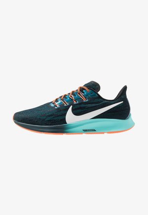 AIR ZOOM PEGASUS 36 - Zapatillas de running neutras - black/metallic summit white/midnight turq/aurora green/hyper crimson