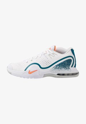 COURT TECH CHALLENGE 20 - Multicourt tennis shoes - white/total orange/green abyss