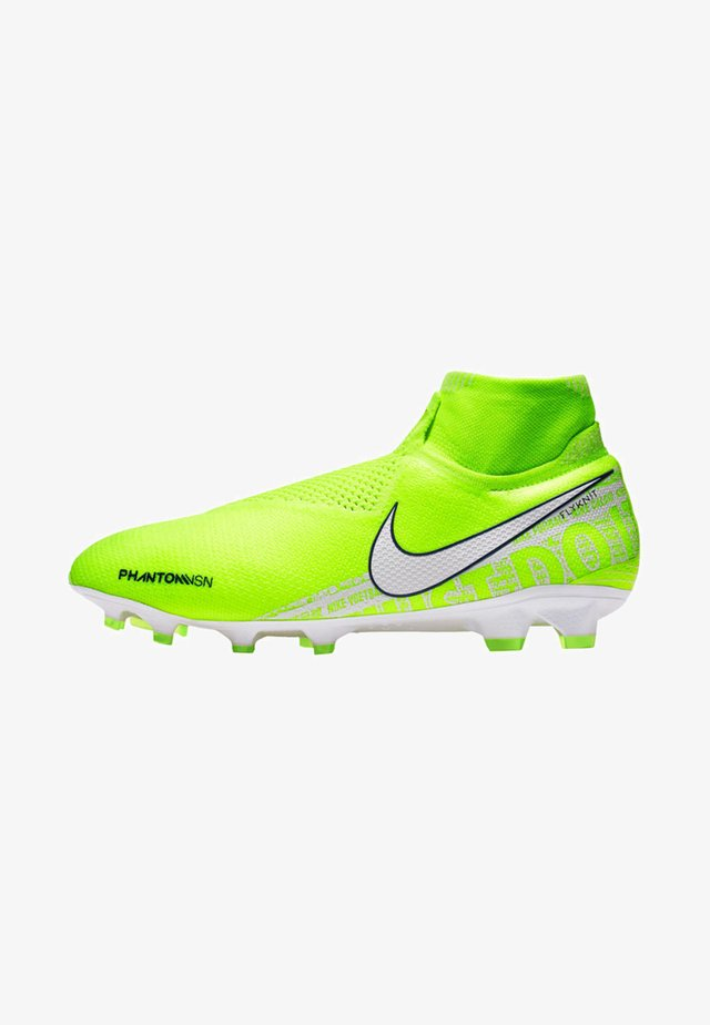 Moulded stud football boots - green