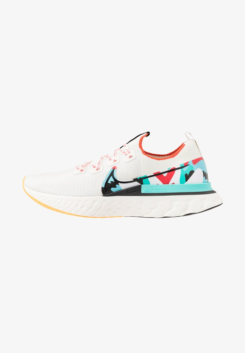 Nike Performance - REACT INFINITY RUN FLYKNIT - Neutral running shoes - sail/black/track red/laser orange