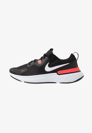 REACT MILER - Juoksukenkä/neutraalit - black/white/laser crimson/oil green
